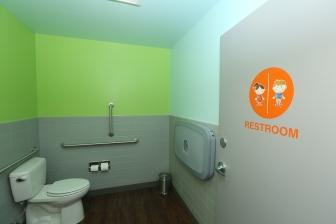 Photo of patient restroom